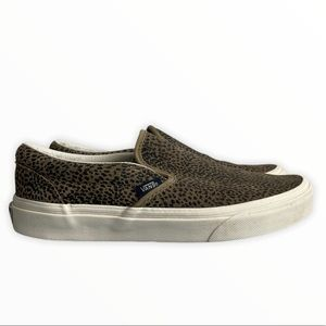 Vans Off The Wall Cheetah Print Slip On Shoes